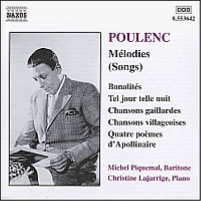폴랑 : 가곡집 (Poulenc : Melodies) - Michel Piquemal