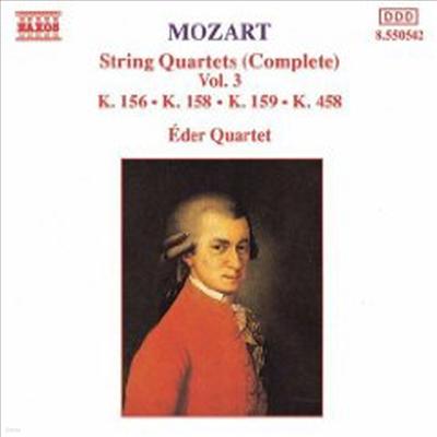 모차르트: 현악 사중주 3, 5, 6 & 17번 '사냥' (Mozart: String Quartet No.3 K.156, No.5 K.158, No.6 K.159 & No.17 K.458 'Hunt') - Eder Quartet