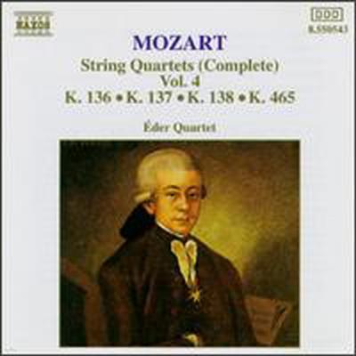 모차르트: 현악 사중주, 4집 (Mozart: Complete String Quartets, Vol.4) - Eder Quartet