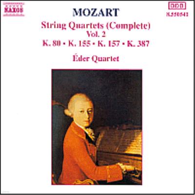 모차르트 : 현악 사중주 1, 2, 4, 14번 (Mozart : Complete String Quartet Vol.2 - No.1 K.80, No.2 K.155, No.4 K.157, K.14 K.387) - Eder Quartet