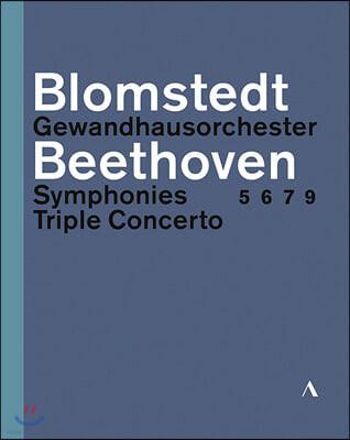 Herbert Blomstedt 베토벤: 교향곡 5번, 6번 7번, 9번 `합창`, 3중 협주곡 - 헤르베르트 블롬슈테트