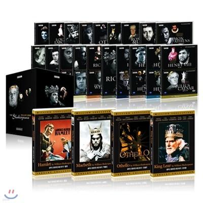 [기획상품]아카데미&BBC 윌리엄 셰익스피어 DVD 패키지 전집:4대희,비극 및 시대극 외/영어더빙/영,한,무자막