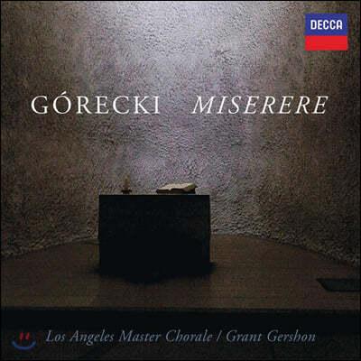 Grant Gershon 고레츠키: 미제레레 (Gorecki: Miserere)