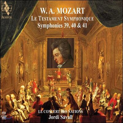 Jordi Savall 모차르트: 교향곡 39, 40번, 41번 `주피터` - 조르디 사발 (Mozart: Le Testament Symphonique)