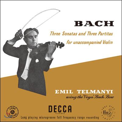 Emil Telmanyi 바흐: 바이올린을 위한 소나타와 파르티타 - 에밀 텔마니 [3LP 박스세트]
