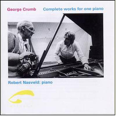 조지 크럼 : 피아노 솔로 전곡집 - 피아노를 위한 다섯 개의 소품, 마크로코스모스, 1979년의 크리스마스를 위한 작은 모음곡, 그노믹 변주곡, 행렬의 (Crumb : Complete works for Piano)(CD) - Robert Nasveld