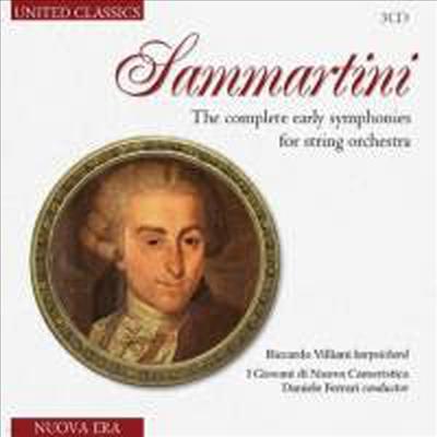 삼마르티니: 현을 위한 초기 교향곡집 (Sammartini: The Complete Early Symphonies for String Orchestra) (3CD) - Daniele Ferrari