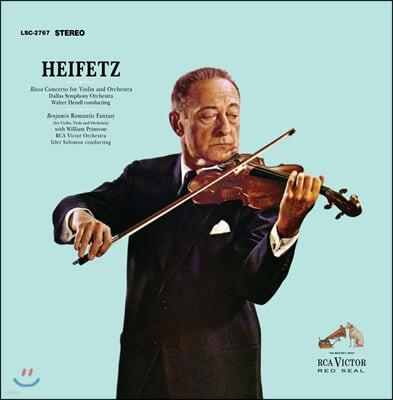 Jascha Heifetz 미클로시 로자: 바이올린 협주곡 / 벤자민: 낭만적 환상곡 - 야사 하이페츠