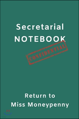 Miss Moneypenny Secretarial Notebook: Note Taking 6 x 9 inch Writing Pad Fun Cover Blue Dress Colour great for home or office