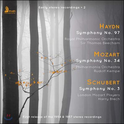 Thomas Beecham 토마스 비첨, 루돌프 켐페의 초기 스테레오 레코딩 (Early Stereo Recordings 2 - Haydn / Mozart / Schubert)