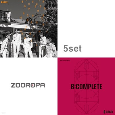 [5종세트] 에이비식스 (AB6IX) 미니1집 + 1집 6IXENSE 식스센스 B:COMPLETE ep Breathe