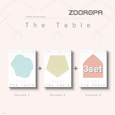 [3종세트] 뉴이스트 (NU'EST) 미니앨범 7집 The Table Love Me