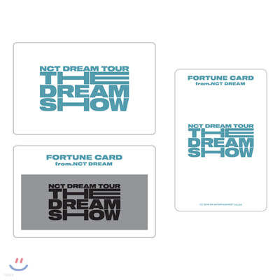 NCT DREAM THE DREAM SHOW 포츈스크래치SET