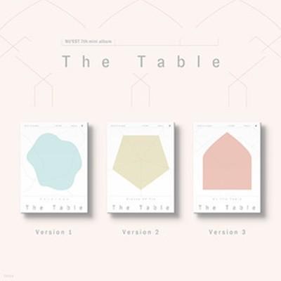 [미개봉] 뉴이스트 (Nu'est) / The Table (7th Mini Album) (1/2/3 Ver. 랜덤 발송)