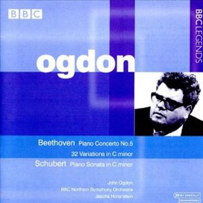 베토벤 : 피아노 협주곡 5번 '황제', 32개의 변주곡, 슈베르트 : 피아노 소나타 (Beethoven : Piano Concerto No.5 Op.73 'Emperor', 32 Variations Woo80, Schubert : Piano Sonata D.958) - John Ogdon