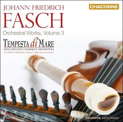 Tempesta di Mare 파슈: 관현악 작품 3집 (Johann Friedrich Fasch: Orchestral Works Vol. 3)