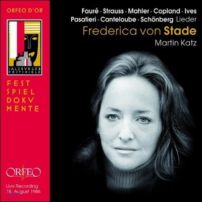 Frederica von Stade 프레데리카 폰 슈타데 : 잘츠부르크 리사이틀 (Live Recording 1986)