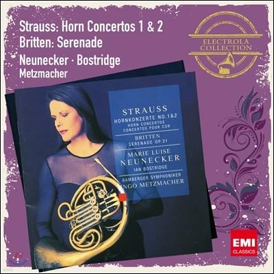 R.슈트라우스 : 호른 협주곡/브리튼 : 세레나데 - 노이네커/보스트리지/메츠마허