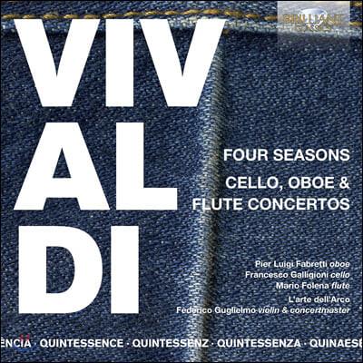 Federico Guglielmo 비발디: 사계와 바이올린, 첼로, 오보에, 플루트 협주곡 (Vivaldi: Four Seasons and Cello, Oboe, Flute Concertos)