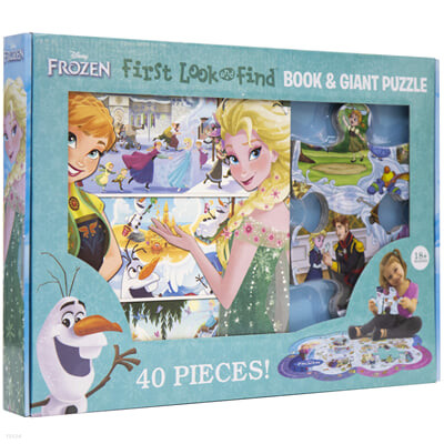 Disney Frozen : First Look and Find Book & Giant Puzzle 겨울왕국 숨은 그림 찾기 & 자이언트 퍼즐북