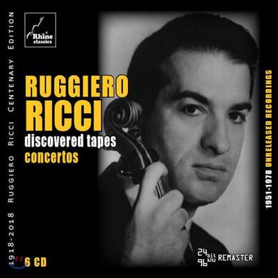 루지에로 리치 미공개 녹음: 바이올린 협주곡 (Ruggiero Ricci - Discovered Tapes: Concerto)