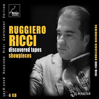 루지에로 리치 미공개 녹음: 바이올린 소품집 (Ruggiero Ricci - Discovered Tapes: Showpieces)