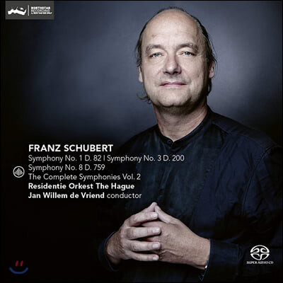 Jan Willem de Vriend 슈베르트: 교향곡 1, 3, 8번 (Schubert: Symphonies D82, 200, 759)