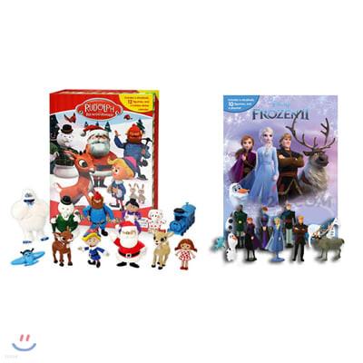 디즈니 겨울왕국 2 + 빨간코 사슴 루돌프 크리스마스 비지북 피규어책