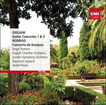 Angel Romero 로드리고 : 아랑훼즈 협주곡 / 줄리아니 : 기타 협주곡 1, 3번 (Giuliani: Guitar Concertos No. 1&3 / Rodrigo: Concierto de Aranjuez)