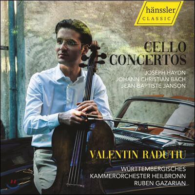 Valentin Radutiu 하이든 / 앙리 카자드쉬 / 장 밥티스트 장송: 첼로 협주곡집 (Haydn / Casadesus / Janson: Cello Concertos)