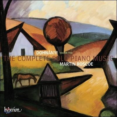 Martin Roscoe 도흐나니: 솔로 피아노 작품 2집 (Dohnanyi: The Complete Solo Piano Music Vol.2)