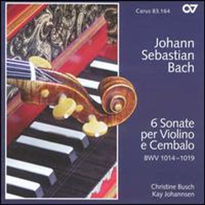 바흐: 바이올린과 하프시코드를 위한 6개 소나타 (Bach: 6 Sonate Per Violino E Cembalo, BWV 1014-1019) (2CD) - Christine Busch