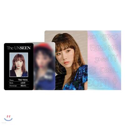 TAEYEON Concert - The UNSEEN ID카드+응원봉데코스티커SET [BLACK]