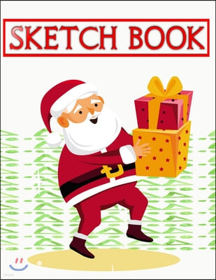 Sketchbook For Markers Christmas Gift Bringer: Paper & Kraft Cover Great For Sketching Writing And Journal Refills - Adults - Boys # Artist Size 8.5 X