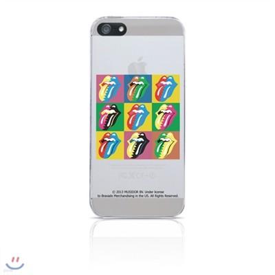 [아이폰5] ROLLING STONES 롤링스톤 89 Steel Wheels Warhol 브라바도 BRAVADO 아이폰 케이스 iPhone Clear Case