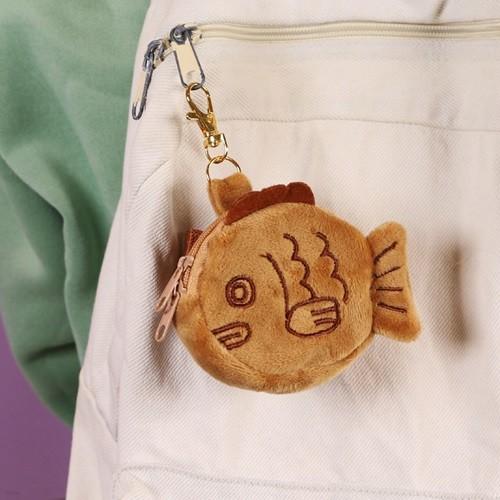 갓샵 붕어빵 동전지갑 키링 [에어팟 케이스 보관 동전 파우치 미니 열쇠 지갑 가방고리 인형]