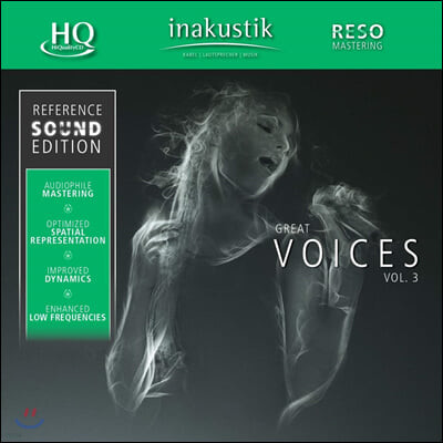 Inakustik 레이블 오디오 테스트용 보컬 사운드 3집 (Great Voices Vol.3) [HQCD]
