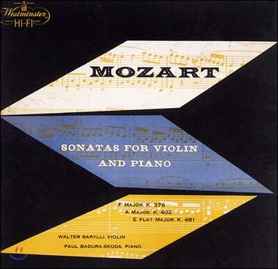 Walter Barylli / Paul Badura-Skoda 모차르트: 바이올린 소나타 (Mozart: Violin Sonatas K.376, 402, 481)