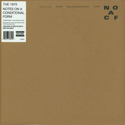The 1975 - Notes On A Conditional Form (Transparent 2LP)