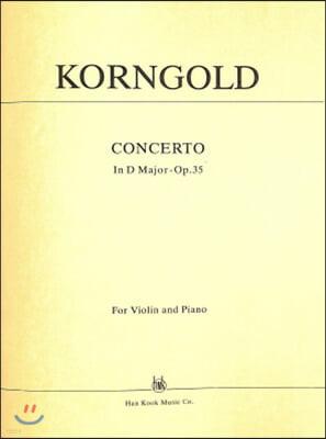 코른골드 바이올린 협주곡 라장조 Op.35