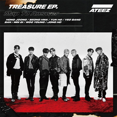 에이티즈 (Ateez) - Treasure EP. Map To Answer (CD+DVD) (Type A)