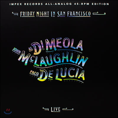 Al Di Meola, John McLaughlin, Paco De Lucia (알 디 메올라, 존 맥러플린, 파코 데 루치아) - Friday Night In San Francisco [2LP]
