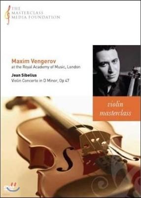 막심 벤게로프 마스터클래스 : 시벨리우스 바이올린 협주곡