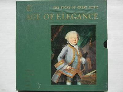 LP(수입) Age Of Elegance 낭만파 시대- 줄리니/클렘페러/레델/케르테즈 외(Box 4LP)