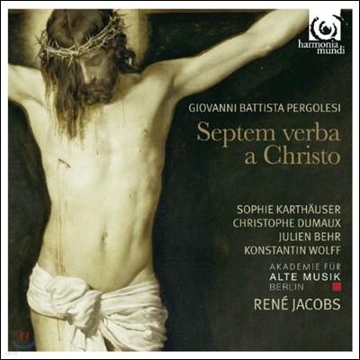 Rene Jacobs 페르골레지: 십자가 위 그리스도의 마지막 일곱 말씀 - 르네 야콥스, 베를린고음악아카데미 (Giovanni Battista Pergolesi: Septem Verba a Christo in Cruce Moriente Prolata)