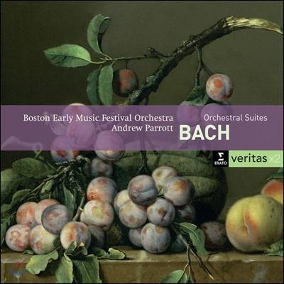 Andrew Parrott 바흐: 관현악 모음곡 (JS Bach: Orchestral Suites BWV 1066-69 & Triple Concerto)