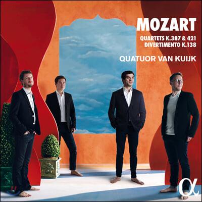 Quatuor Van Kuijk 모차르트: 현악사중주 14, 15번, 디베르티멘토 (Mozart: Quartets K387, 421, Divertimento K138)