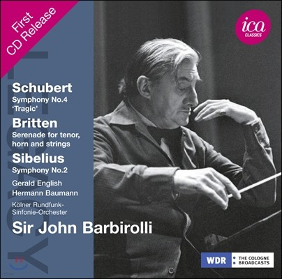 John Barbirolli 존 바비롤리 레거시 - 슈베르트: 교향곡 4번 비극적 / 브리튼: 세레나데 / 시벨리우스: 교향곡 2번 (Legacy - Schubert: Tragic Symphony / Britten: Serenade / Sibelius)