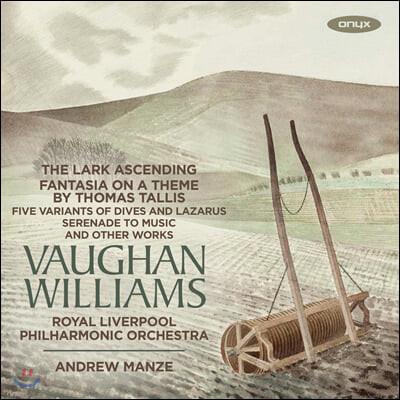 Andrew Manze 본 윌리엄스: 종달새의 비상, 그린슬리브즈 환상곡, 탈리스 환상곡, 영국 민요 모음곡 외