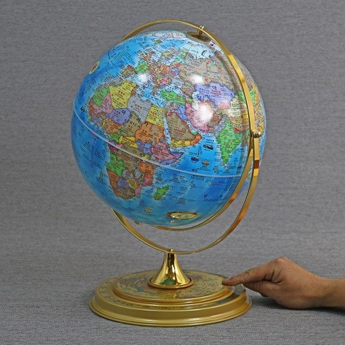 맵소프트 30cm 데스크 타임 지구본 인테리어 세계시차 360도 회전 공전 학습용